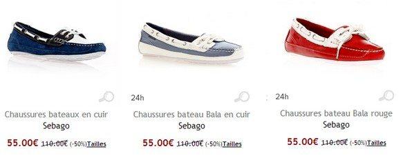 Chaussures bateau femme Sebago