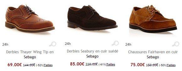 Chaussures derbies Sebago