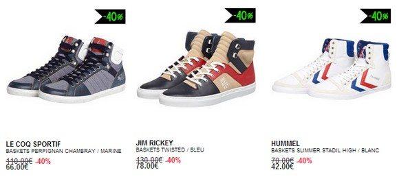 Chaussures montantes en soldes