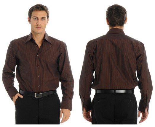 Chemise homme marron