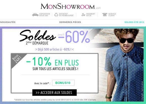 Code Promo Monshowroom