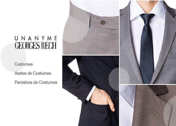 Vente Privée de Costumes Unanyme Georges Rech