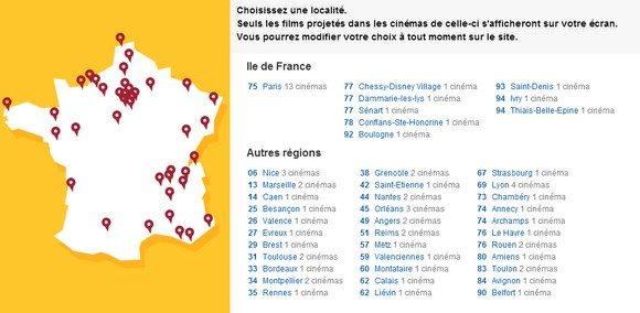 Les cinémas Gaumont Pathe en France