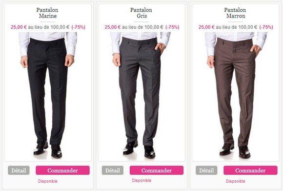 Pantalon de costume homme pas cher