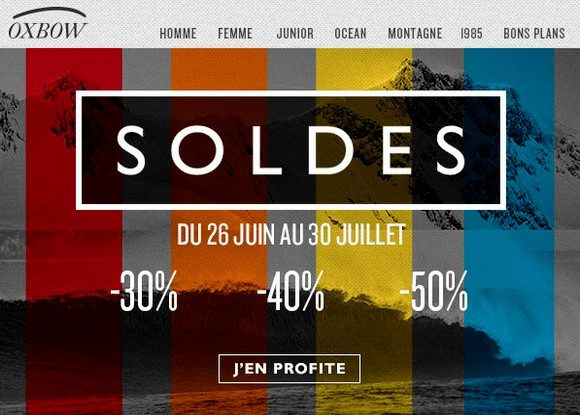 Soldes + Code Promo Oxbow Juillet 2013