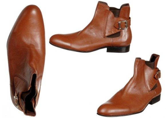 Boots en cuir marron Torrente
