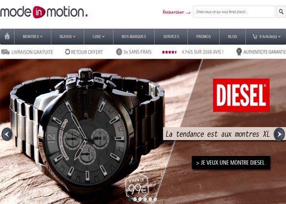 Les bijoux et montres chez Mode In Motion
