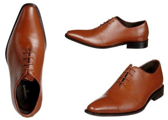 Chaussures Richelieu en cuir marron Torrente