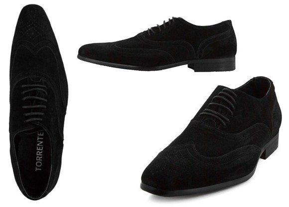Chaussures en cuir nubuck noir Torrente