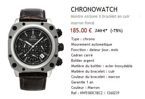 Montre automatique Chronowatch Airzone II