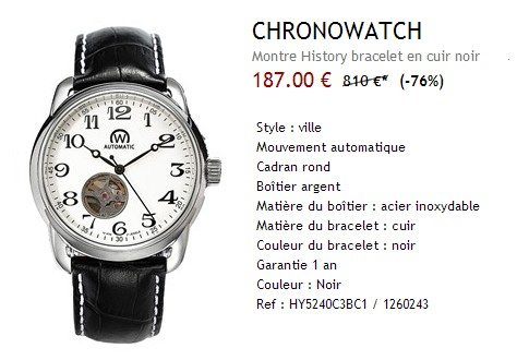 Montre automatique Chronowatch