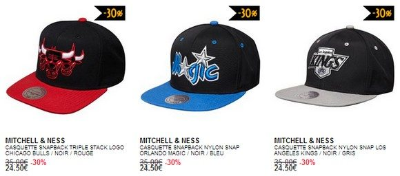 Casquette Mitchell And Ness en soldes