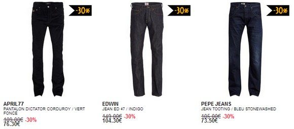Jeans en soldes
