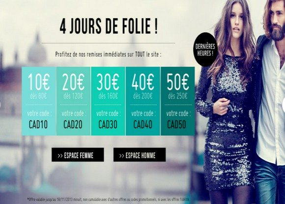 Codes Promos Monshowroom Novembre 2013