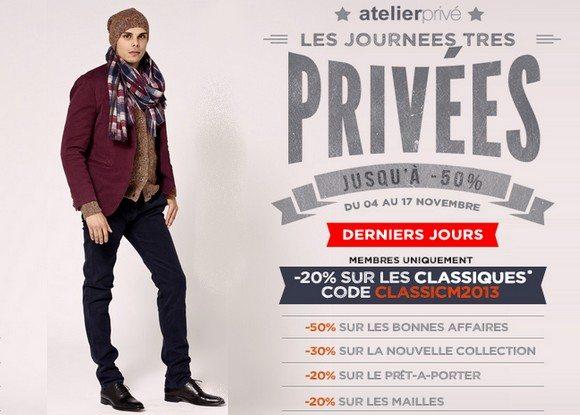 Code Promo Atelier Privé Novembre 2013