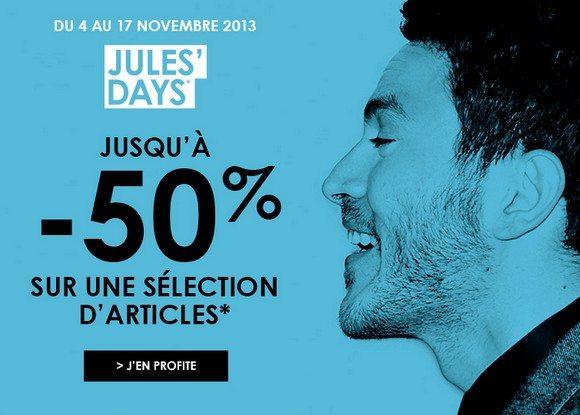 Promotions chez Jules : Jusqu'à -50% !