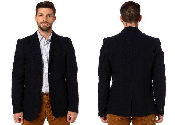 blazer homme coton et laine