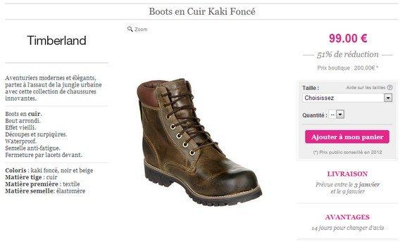 boots en cuir timberland