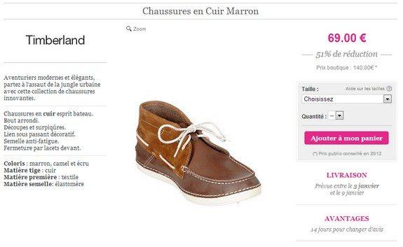 chaussures en cuir timberland