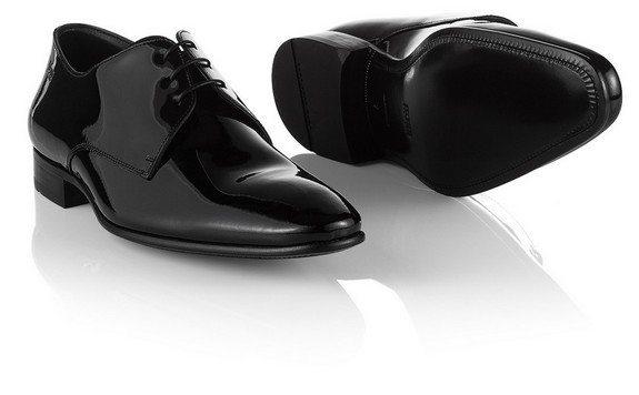 chaussures vernies derby en cuir