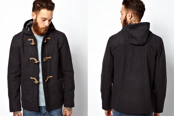 duffle coat homme gris anthracite
