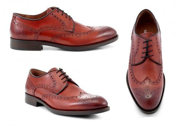 chaussures derbies rouges