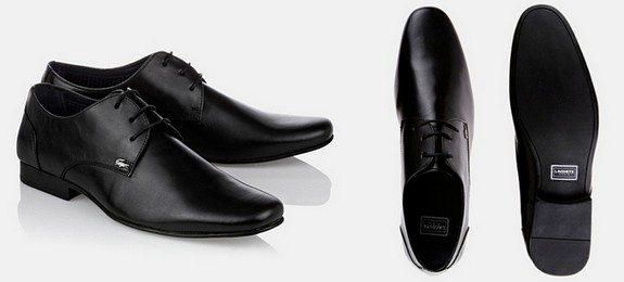 chaussures noires lacoste
