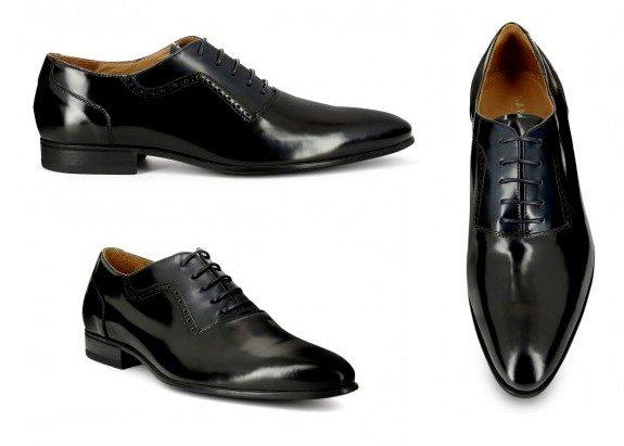 chaussures richelieus vernies noires