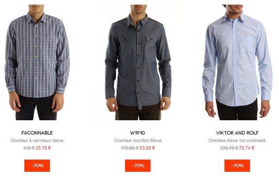 chemise menlook en soldes