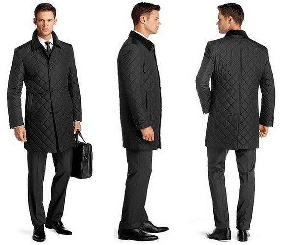 manteau matelasse col velours hugo boss