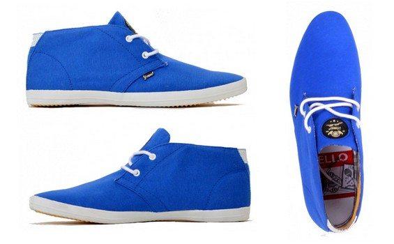 sneakers bleues en toile j.fabian
