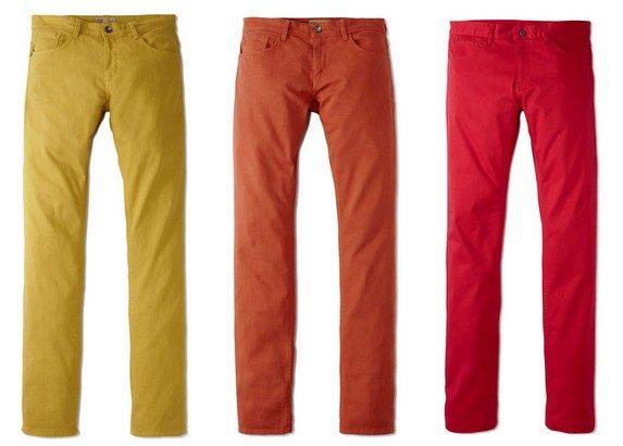 pantalon homme de couleur celio