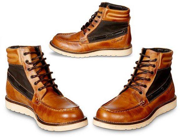 chaussures montantes en cuir kaporal