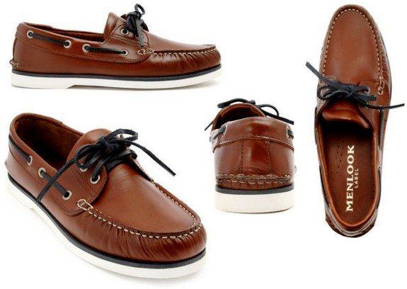 chaussures bateaux marron