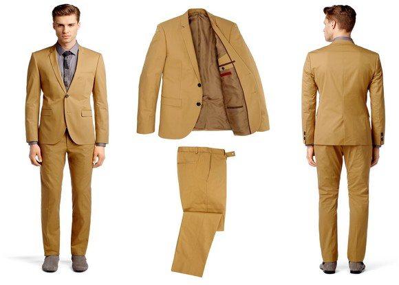 costume homme beige