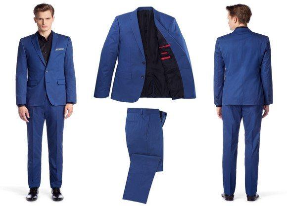 costume homme bleu