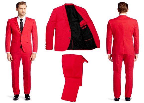 costume homme rouge hugo boss