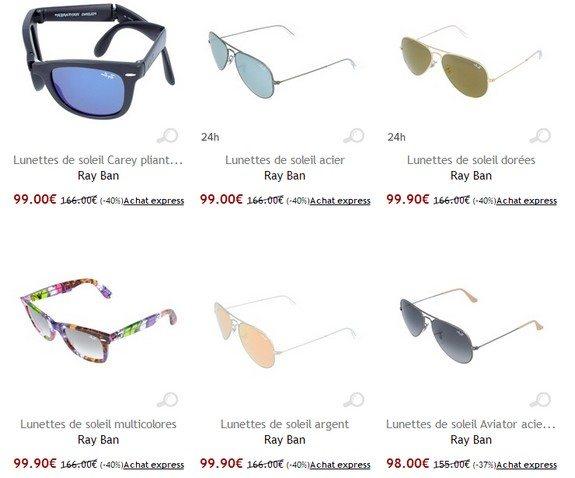 lunettes soleil ray ban pas cher