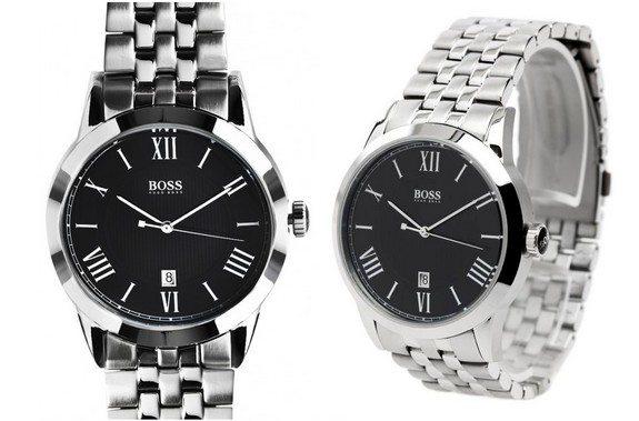 montre hugo boss noire bracelet acier