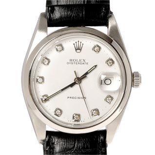 rolex precision 1982 cuir diamants