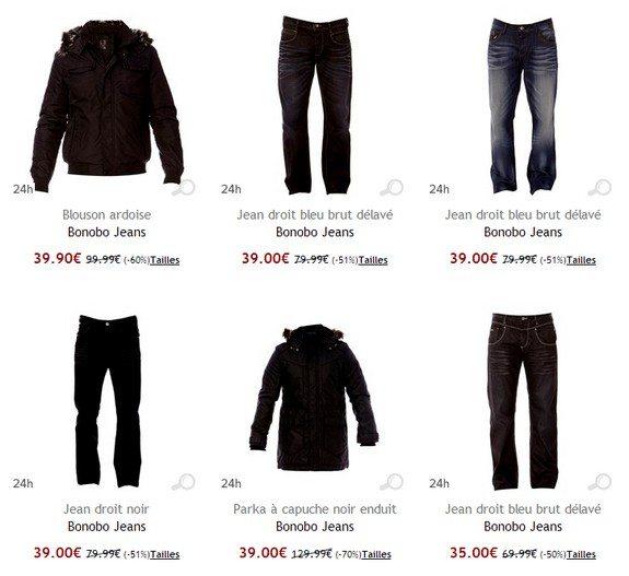 bonobo jeans pas cher