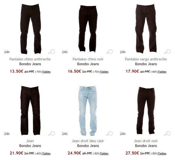 jeans bonobo jeans pas cher