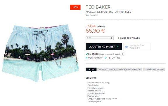 maillot de bain ted baker