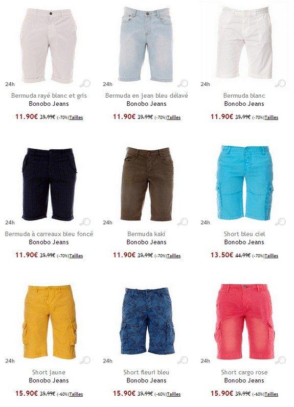 short bonobo jeans pas cher