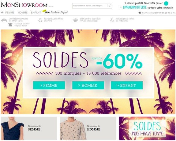 soldes monshowroom ete 2014