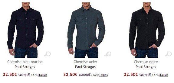 chemise classique paul stragas