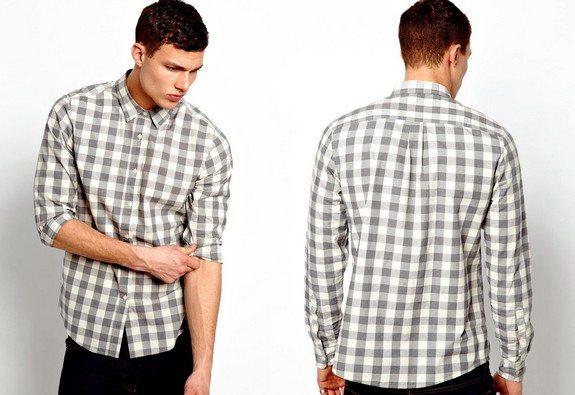 chemise grise a carreaux