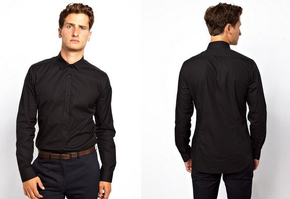 chemise noire french connection