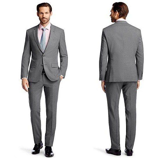 costume homme gris hugo boss laine vierge