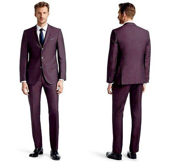 costume homme violet en laine vierge hugo boss